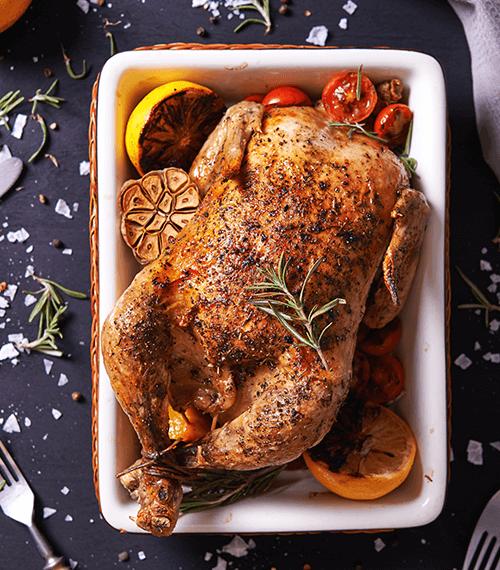 poulet rôti de la boucherie halal